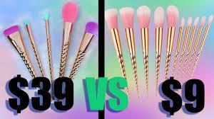 9 unicorn brushes from ebay vs tarte s