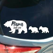 Mama Bear Cub Life Cubs Mothers Day Car Decal Vinyl Transfer Sticker Silhouette Ebay