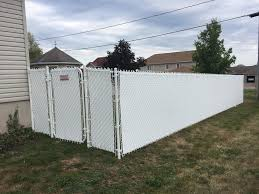White Chain Link With Privacy Inserts Wilson S Fencing Facebook