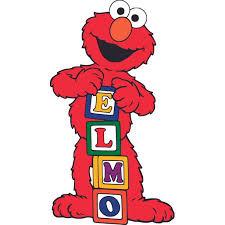 Elmo Sesame Street Blocks Cartoon Customized Wall Decal Custom Vinyl Wall Art Personalized Name Baby Girls