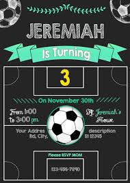 Soccer Party Birthday Invitation Tarjetas De Cumpleanos Futbol