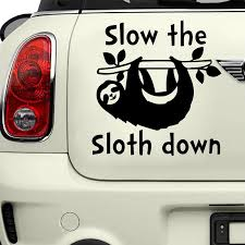 Cartoon Sloth Down Car Decal Figure Diy Adhesive Window Car Stickers Waterproof Auto Sticker Car Stickers Aliexpress