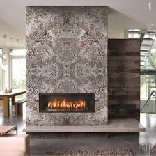 fireplace with granite slabs
