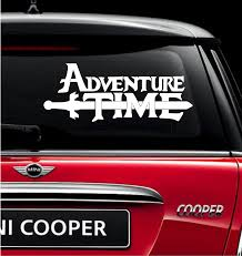 Adventure Time Vinyl Decal For Car And Truck Windows Sticker Finn And Clearskydesigns Truck Window Stickers Vinyl Decals Car Decals