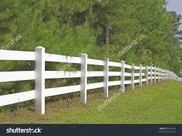 Decorative White Split Rail Fence Stock Photo 4296328 Shutterstock Split Rail Fence Backyard Fences Rail Fence