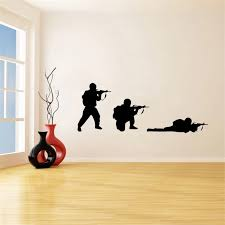 Cool Military Army Soldier Wall Sticker Guns Wall Decal War Industry Boys Bedroom Decoration Wall Mural Military Arms Wall Decor Wall Stickers Aliexpress