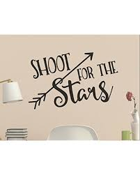 Don T Miss Sales On Shoot For The Stars With Arrow Wall Quote Vinyl Decal
