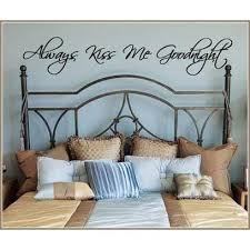 Always Kiss Me Goodnight Vinyl Wall Decal Jack And Jill Boutique