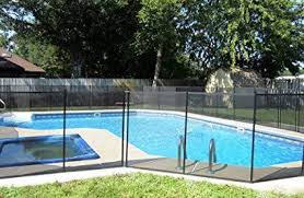 Fully Assembled Sentry Ez Guard Child Safety Pool Fence Priced Per Foot To Save You Money 4 Tall Black Lifefence Com