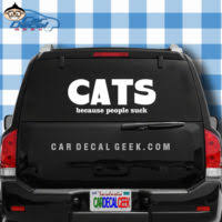 Cat Vinyl Decals Stickers Cat Decals Kitty Stickers