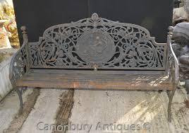 cast iron garden bench architectural seat