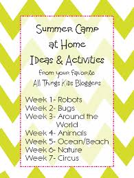 Summer Camp At Home Animal Activities Snacks