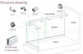 glass balcony system frameless glass