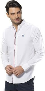 JIMMY SANDERS - Men's Long Sleeve Shirt - White, S at Amazon Men's Clothing  store