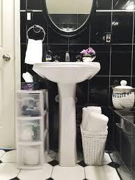 storage to your pedestal sink
