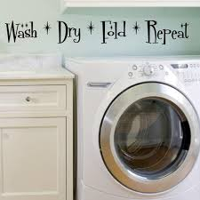Wash Dry Fold Repeat Wall Decal Sticker Decal The Walls