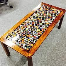 beer cap coffee table beer cap table
