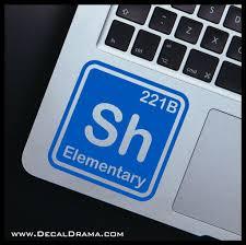 Sherlock Element Bbc S Sherlock Inspired Fan Art Vinyl Car Laptop Deca Decal Drama