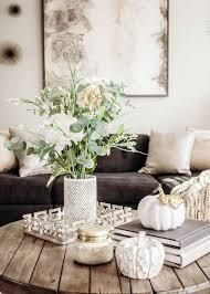 coffee table fall decor subtle