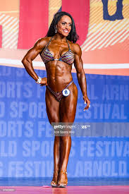 Myra Rogers competes in Figure International as part of the Arnold... News  Photo - Getty Images