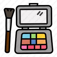makeup kit vector icon