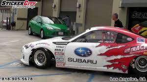 Esx Subaru Brz Race Car Wrap By Sticker City Youtube
