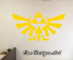 Legend Of Zelda Triforce Wall Decals Anime Mural Arts Sticker For Interior Decor Kids Inspiration Vinyl Decal Game Y046 Sticker Art Mural Art Wall Decals