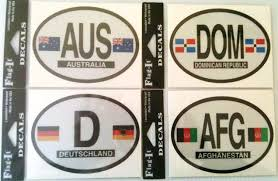 Oval Decals Country Euro Oval Decals Vinyl Waterproof Oval Decals