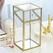 makeup brush pearls holder with lid