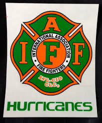Iaff Miami Hurricanes Car Decal For Union Firefighters Free Etsy
