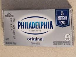 cream cheese brick nutrition facts