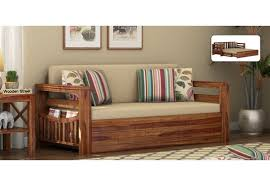 sofa bed wooden and fabric sofa beds