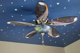 Solar System Ceiling Fan Space Themed Room Space Themed Bedroom Kid Room Decor
