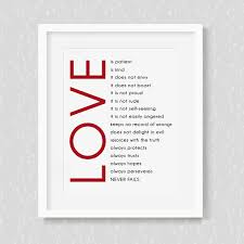 Love Is Patient Love Is Kind Wall Art Wallums