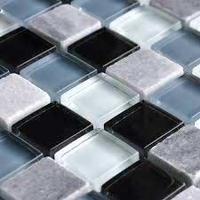crystal stone glass tile backsplash