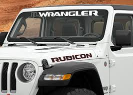 Jeep Wrangler Jl Jlu Wrangler Windshield Banner Vinyl Decal Jeep Wrangler Decals