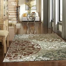 area rug circles rust cream gold sage