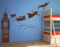 Peter Pan Wall Decal Etsy