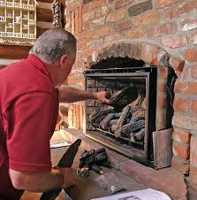fireplace to a gas log insert