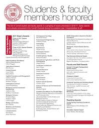 students faculty members honored