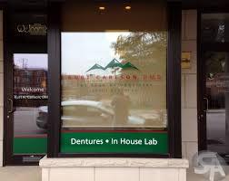 Vinyl Window Clings For Dental Office In Elmhurst Il For Kurt K Carlson Dmd