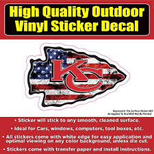 Kansas City Chiefs Kc Chiefs Many Designs Football Vinyl Car Window B Colorado Sticker