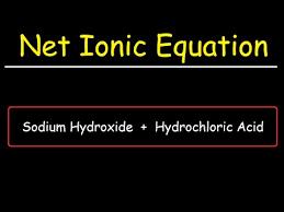 hydrochloric acid net ionic equation