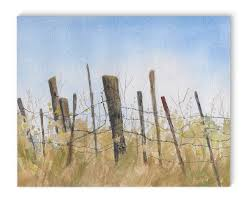 Fence Painting Art On Canvas Joss Main