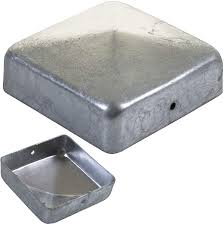 Marko Fencing Galvanised Metal Fence Post Caps Pyramid Square 3 4 Posts End Covers 75 100mm 3 75mm Amazon Co Uk Garden Outdoors