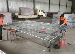 6ft X 10ft Chain Mesh Temporary Fencing Panels Construction Fence Panels Frame Od 42mm And Mesh 60mm X 60mm X 2 7mm Dia
