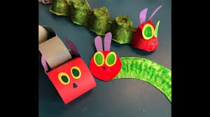 Art & Craft - VERY HUNGRY CATERPILLAR MODELS (EYFS KS1) - YouTube