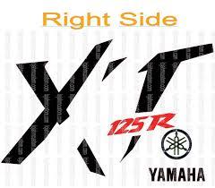 Set Yamaha Xt 125r Right Side Vinyl Stickers Hmcustom Online Shop