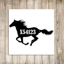 Ottb Tattoo Number Decal Ottb Sticker Horse Decal Car Etsy