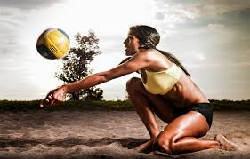 wallpaper sand ball pose volleyball